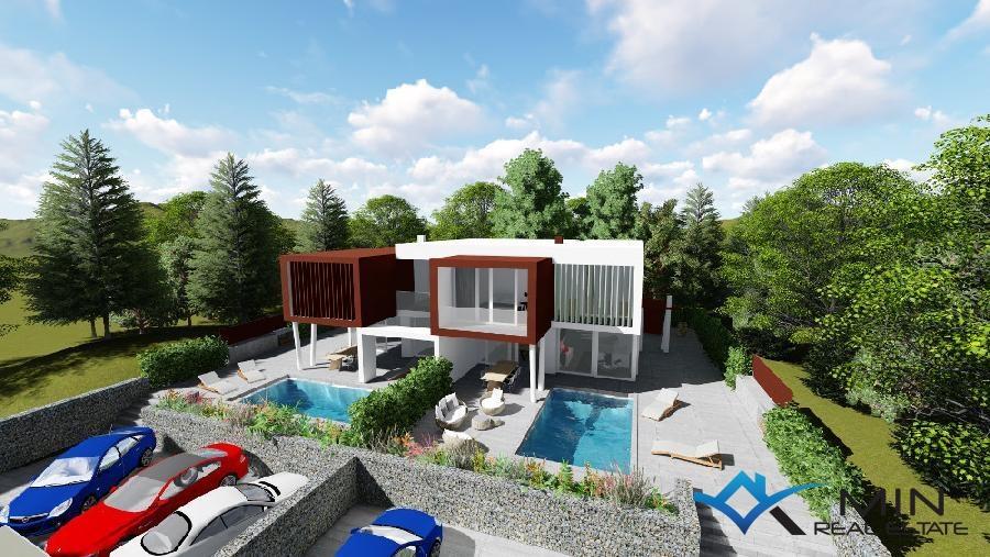 Casa moderna con piscina a zambratia 00530 min agenzia for Casa a 2 piani con piscina