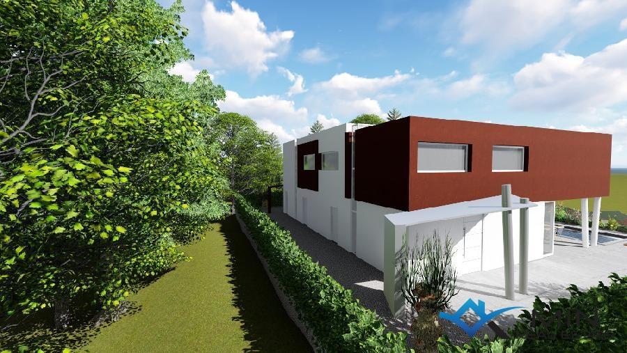 Modernes haus mit pool in zambratija 00530 min for Modernes haus 2 etagen