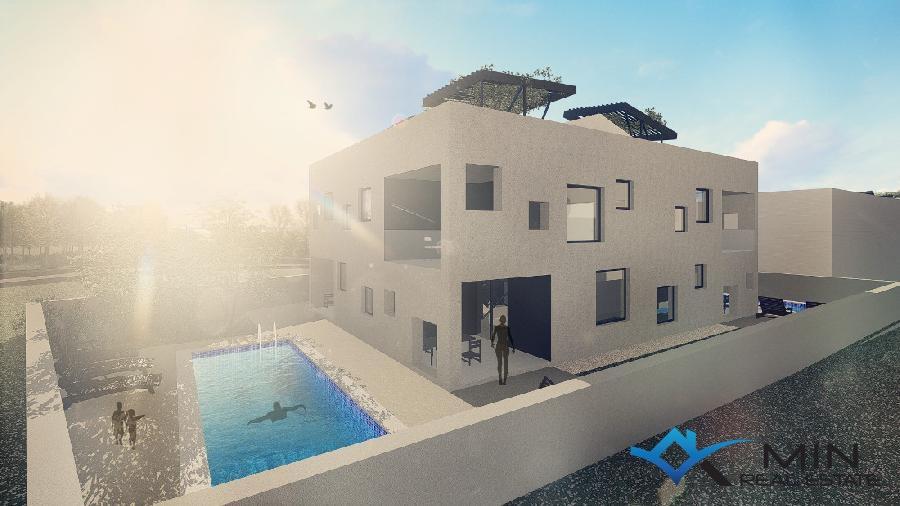 Modernes haus in novigrad 00510 min immobilienagentur for Casa moderna 44 belvedere